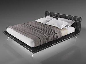 onda bed poliform 3D model