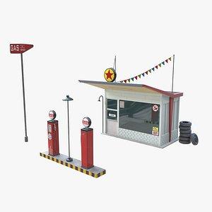 gas station model