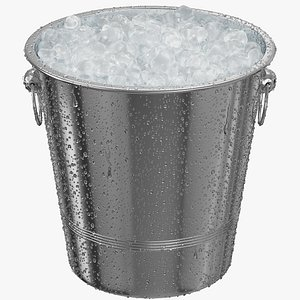 Ice Bucket With Condensation 3D model