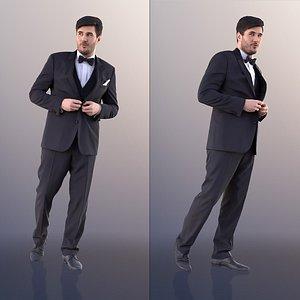 man business walking 3D
