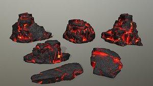 3D Rock Set