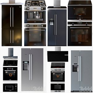 siemens side-by-side oven 3D model