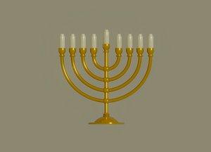 menorah candles model