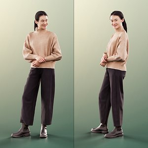 3D woman young casual model