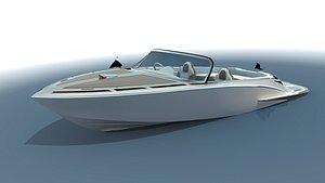 3D model boat speedboat tender