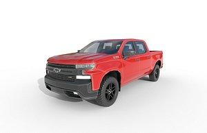 3D Chevrolet Silverado CrewCab Trailboss 2018