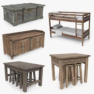 old wood furniture model