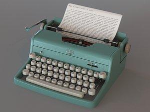 3D typewriter writer