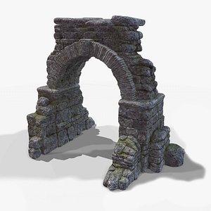 3D arc ruin model