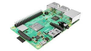 3D Raspberry pi 3B plus model