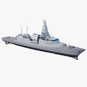 3D Type 26 City Class Frigate