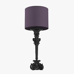 3D model big floor lamp