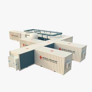 3D model modular hospital