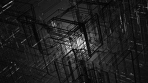 3D model cube matrix