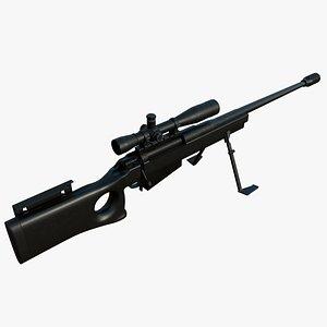 3D mcmillan leupold mk4 rifle
