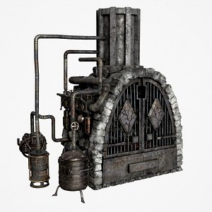 3D Medieval Alchemy Forge