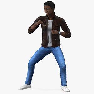 Teenager Light Skin Street Outfit Dance Pose model