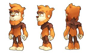3D stylized monkey character model