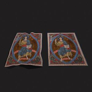3D Psalter Tapestry model