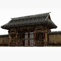 Ancient Asian Buddhist style gate