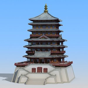 3D ancient chinese building