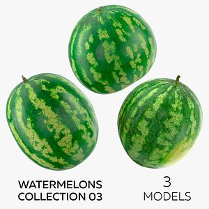 3D Watermelons Collection 03 - 3 models model