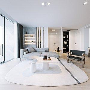 3D scene furniture room model