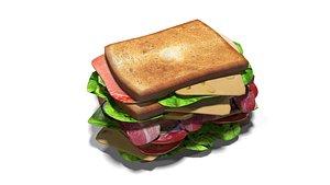sandwich food 3D