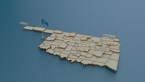 state flag 3D