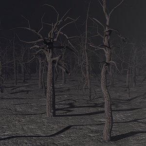 3D forest landscape tree