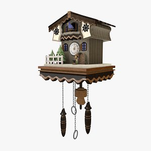 cartoon clock cuckoo model