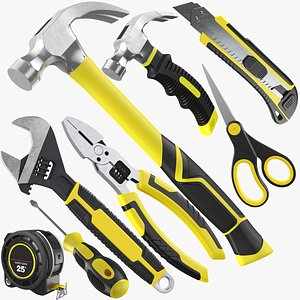 3D Eight Hand Tools Collection