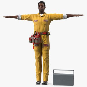 3D american locksmith t pose model
