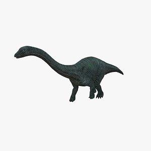 3D apatosaurus dinosaur nature model