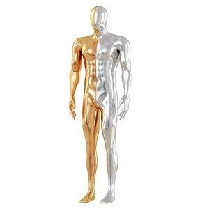 man mannequin metal model