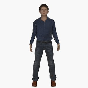 12 Years Old Rigged Boy model