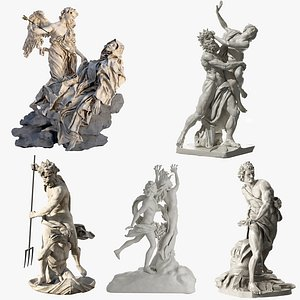 3D Bernini Statues Collection