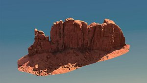 3D canyon cliff