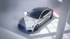 Audi RS5 Coupe - Unreal and Blender Project 3D model