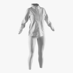 3D windbreaker leggings