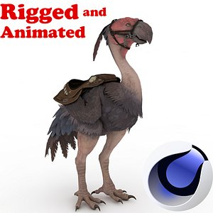 Axe Beak  Rigged and Animated 3D model