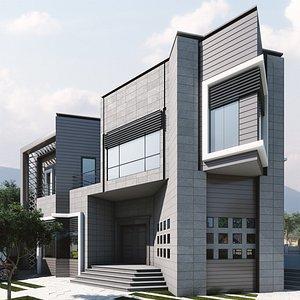 villa garden 3D