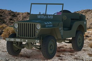3D Jeep Willys MB 1942