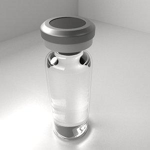 Vaccine Bottle with Liquid 3D model