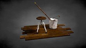 stool bucket 3D model