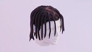Short Braided Dreadlocks - Polo G Inspired Hairstyle 3D model
