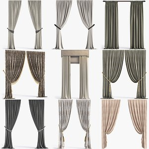 3D Collection of Curtains