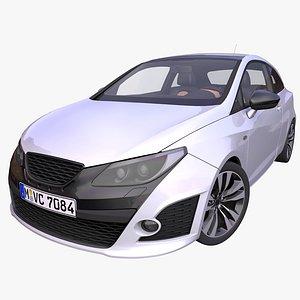 3D generic hatchback interior car model