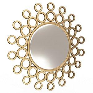 Gold Bubble Wall Mirror 3D model