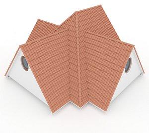 Realistic Roof Shingles 9 3D model